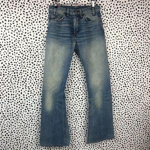 Vintage Levis 517 Orange Tab Jeans size 27/34